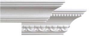 1Smooth and pattered crown moulding
